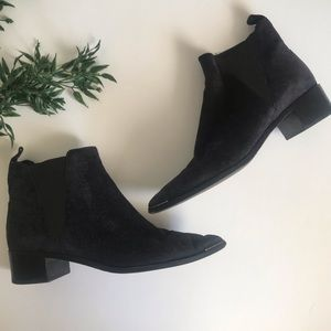 Acme Studio Navy Blue Jensen Suede Booties